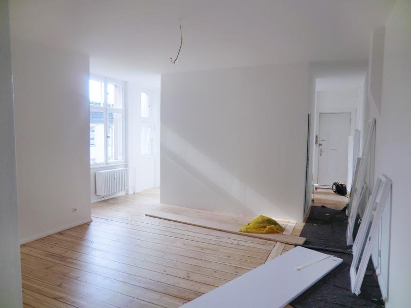 Komplettsanierung Altbauwohnung Berlin Steglitz Wohnzimmer